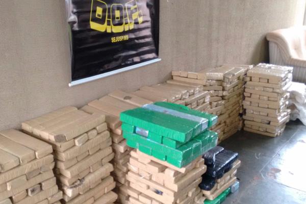 Ocorrência do DOF registrou 700 quilos de maconha apreendidos. - Crédito: Foto: Divulgação/DOF