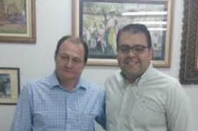 Vereador Alan Guedes e secretário  de Infraestrutura Miglioli. - Crédito: Foto: Divulgação
