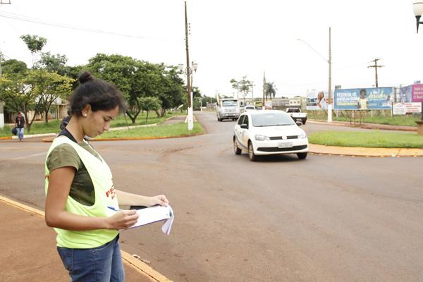 Pesquisa capta dados em vias. - Crédito: Foto: Chico Leite