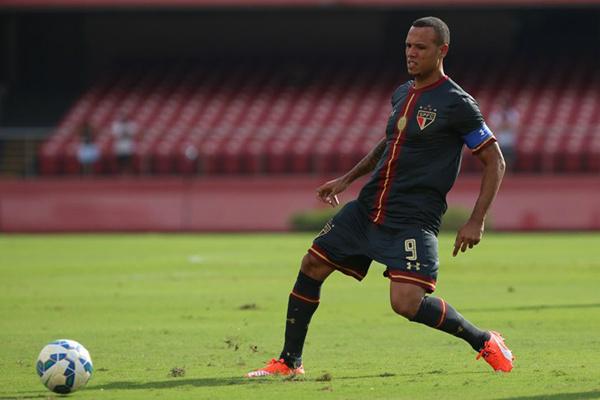 Imagem de Luis Fabiano no jogo de sábado; despedida teve gol. - Crédito: Foto: Divulgação