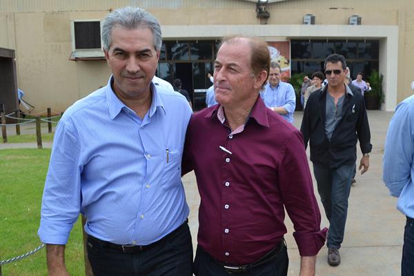 Bebeto acompanhou visita do governador Reinaldo Azambuja. - Crédito: Foto: João Pires