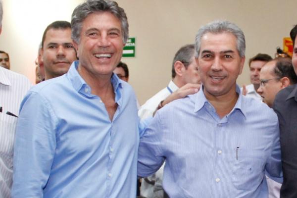 Parceria entre Murilo e Reinaldo tem proporcionado grandes investimentos para Dourados. - Crédito: Foto: Chico Leite
