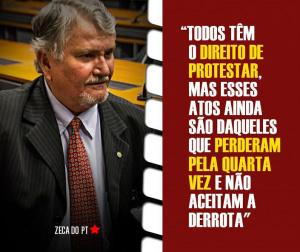 Deputado federal compartilhou em sua página no Facebook poste da direção nacional do PT sobre pedido de impeachment. - Crédito: Foto: Divulgação