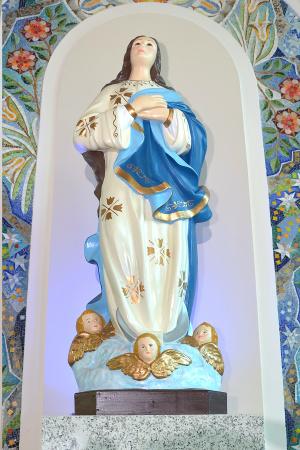 Primeira imagem chegou com  Pedro Álvares Cabral. O culto à Imaculada Conceição no Brasil teve início em Salvador, na Bahia. - Crédito: Foto: Marcos Ribeiro