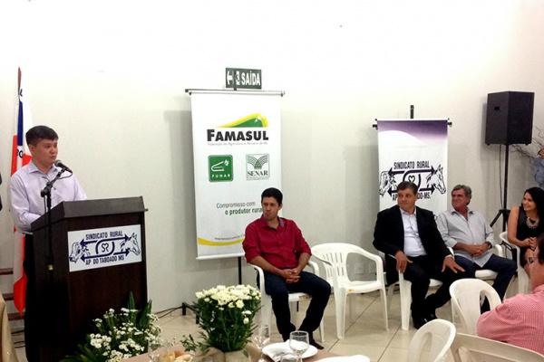 Presidente Mauricio Saito, salientou sobre o comprometimento e dedicação do presidente reeleito, Eduardo Sanches. - Crédito: Foto: Divulgação