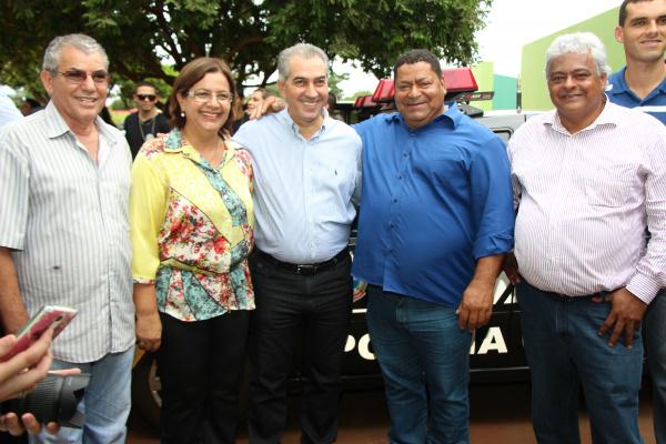 Prefeita participa de evento junto com governador em Angélica. - Crédito: Foto: Kauhê Prieto