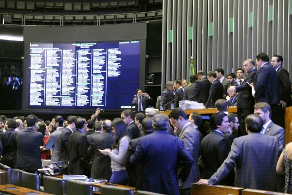 Sessão para votação dos integrantes da comissão que vai dar parecer sobre o pedido de impeachment. - Crédito: Foto: Luis Macedo/Câmara dos Deputados