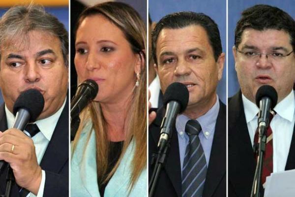 Vereadores cassados Alceu Bueno, Thais Helena, Delei Pinheiro e Paulo Pedra. - Crédito: Foto: Divulgação