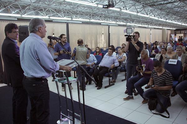 Evento de lançamento foi no auditório da sede do Poder Executivo, em Campo Grande. - Crédito: Foto: Divulgação