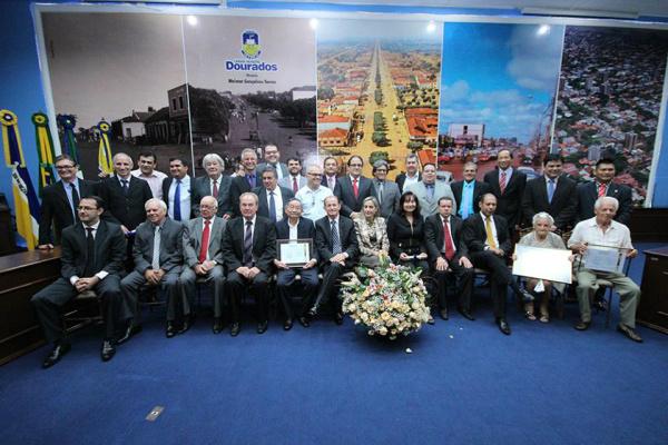 Sessão solene de homenagens celebrou os 80 anos de Dourados e encerrou os trabalhos. - Crédito: Foto: Thiago Morais/CMD