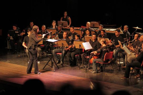 Orquestra da UFGD é um projeto desenvolvido pela Coordenadoria de Cultura que alia o ensino e a prática musical, contribuindo com as expressões artísticas. - Crédito: Foto: Divulgação