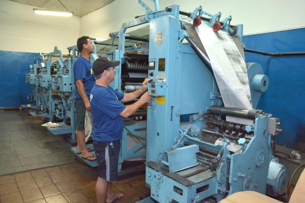 Fundado por Weimar Gonçalves, O PROGRESSO  foi o primeiro jornal a ser impresso em Dourados. - Crédito: Foto: Marcos Ribeiro