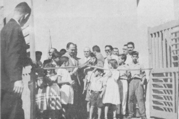 Antônio Morais inaugura o Parque de Exposições - Crédito: 1958