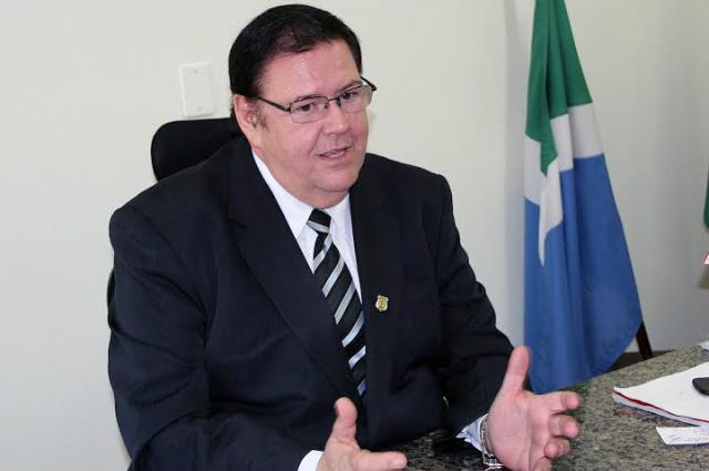 Diretor-presidente da agência, Ailton Stropa Garcia, falou à imprensa sobre assuntos que foram demanda da Agepen. - Crédito: Foto: Divulgação/Agepen