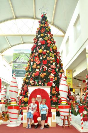 Árvore de Natal, juntamente  com o simbolismo do Papai Noel, simboliza um período de festas. - Crédito: Foto: Marcos Ribeiro