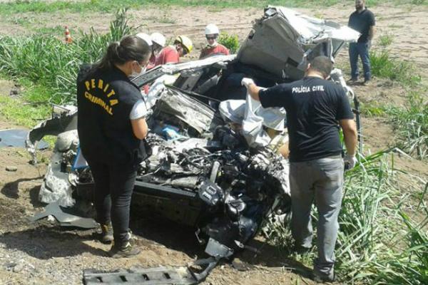 Acidente em Sorona matou família inteira na BR 163. - Crédito: Foto: Sidney Assis Coxim Agora