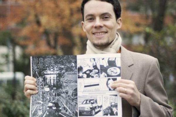 O desenhista brasileiro Angelo Vasconcelos Levy publica as histórias na President Next, revista com foco no público jovem. - Crédito: Foto: BBB Brasil