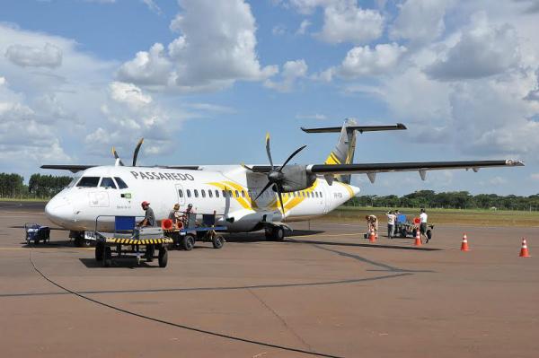 Passaredo retomou voo direto entre Dourados e São Paulo a partir deste mês de janeiro. - Crédito: Foto: Chico Leite