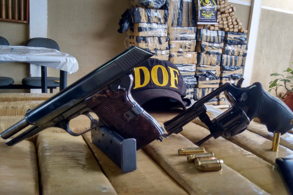 Entre as apreensões, o DOF tirou de circulação 53 armas de fogo. - Crédito: Foto: Divulgação