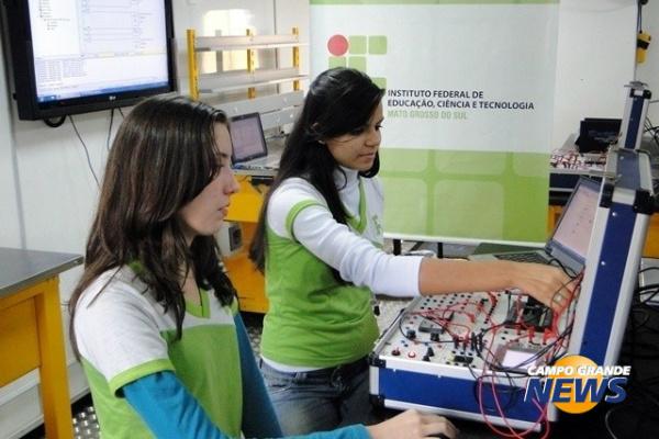 Alunos do IFMS terão à disposição 12 cursos presenciais. - Crédito: Foto: Divulgação