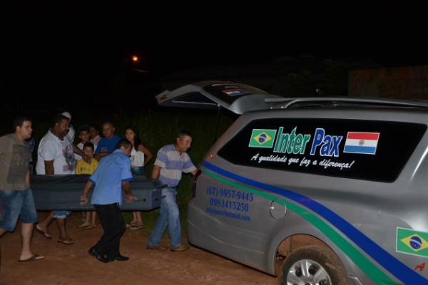 Filho que presenciou cena apontou o principal suspeito do crime. - Crédito: Foto: Ponta Porã Informa