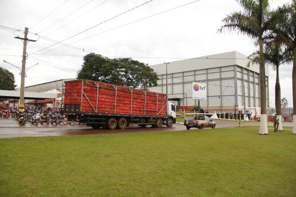 Sede da BRF em Dourados, uma das indústrias que vai comprar a produção dos novos aviários. - Crédito: Foto: Divulgação