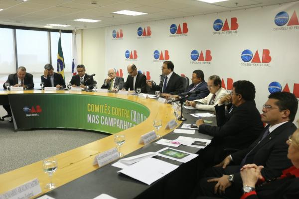 Lançamento dos comitês de combate ao caixa 2 de campanhas eleitorais aconteceu na terça-feira. - Crédito: Foto: Eugênio Novaes/CFOAB