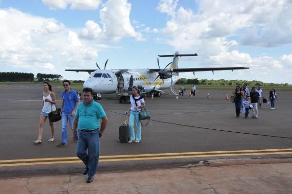 Em Dourados há demanda para mais voos em 2016. - Crédito: Foto: Divulgação