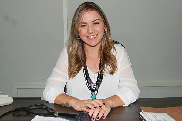 Presidente da Câmara, Karenn Ramsdorf Leonardo da Silva. - Crédito: Foto: Assessoria
