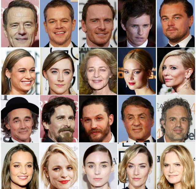 Academia revelou  os 20 candidatos do Oscar 2016 nas categorias de atuação, sendo nenhum deles negro. - Crédito: Foto: Divulgação