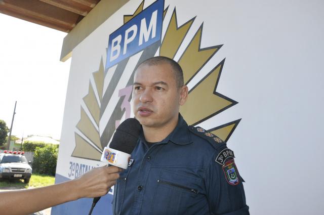 Comandante do 3° BPM de Dourados, tenente-coronel Carlos Silva falou das metas para este ano. - Crédito: Foto: Hedio Fazan