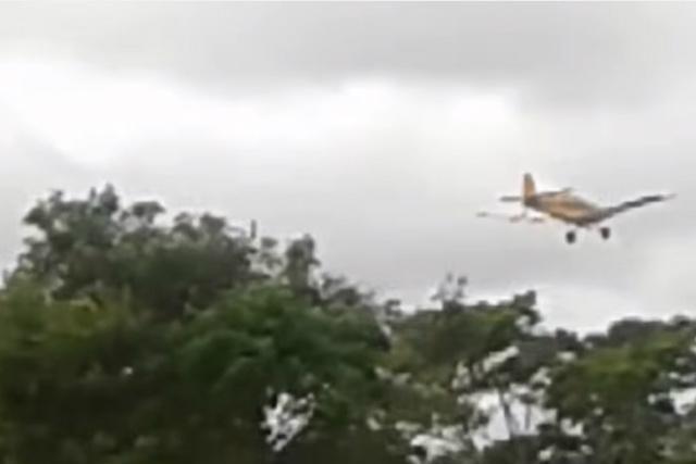 Indígenas reclamam que aviões despejam agrotóxicos sobre a comunidade e as nascentes de água. - Crédito: Foto: Divulgação