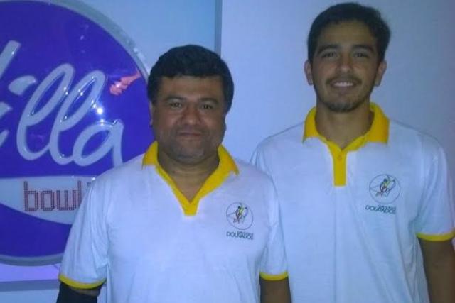 Os douradenses Reginaldo Morel e Rodrigo Marques ganharam quatro medalhas na Taça SP de boliche. - Crédito: Foto: Divulgação