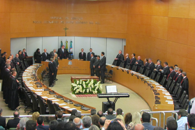 Desembargador João Maria Lós, presidente do TJMS, confirmou acordo para destravar vagas na instituição Pleno do TJ/MS. - Crédito: Foto: Divulgação