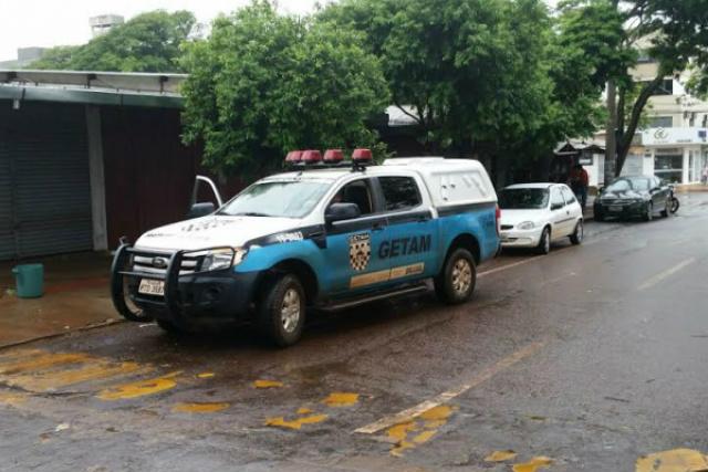 Ocorrência de tentativa de assalto ocorrida logo às 7h30 da manhã na área central de Dourados. - Crédito: Foto 94 FM