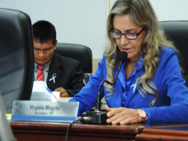 Vereadora Virgínia Magrini. - Crédito: Foto: Divulgação