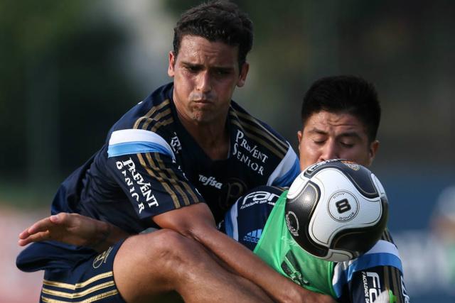 Jean treinou com disposição e deve ser novidade do Palmeiras para o jogo de hoje diante do São Bento. - Crédito: Foto: Cesar Greco/Ag Palmeiras/Divulgação