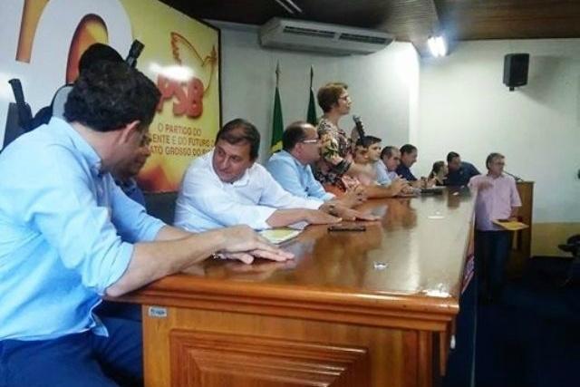 Encontro do PSB, realizado na sexta-feira, em Campo Grande, reuniu várias lideranças políticas. - Crédito: Foto: Divulgação