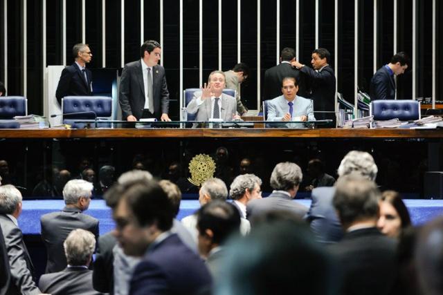 Plenário do Senado deve apreciar vários projetos na sessão deliberativa de amanhã. - Crédito: Foto: Moreira Mariz/Agência Senado