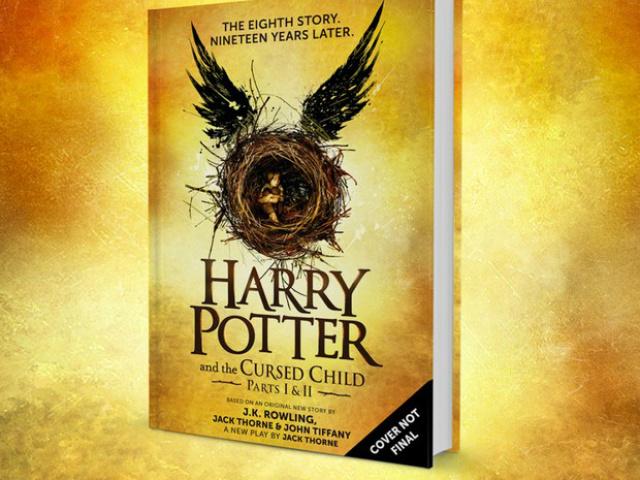 Capa provisória do livro com o roteiro da peça de teatro que seria a 8ª história de Harry Potter. - Crédito: Foto: Divulgação