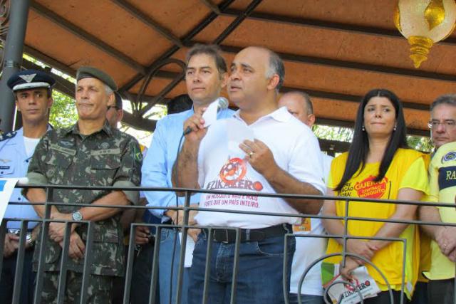 George Hilton discursa em lançamento da campanha nacional de combate ao Aedes aegypti. - Crédito: Foto: Elvio Lopes