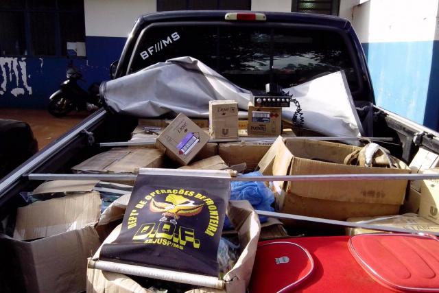 Cargas foram enviadas à Polícia Federal e Receita Federal. - Crédito: Foto: Divulgação/DOF
