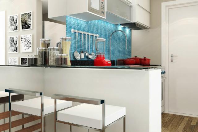 Cozinha integrada se tornou um instrumento para ampliar os ambientes e os espaços e facilitar o convívio social. - Crédito: Foto: Divulgação