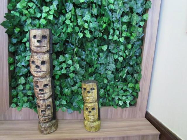 Bugrinhos de Conceição dos Bugres, em exposição permanente no Serviço Social do Comércio - Crédito: Foto: Elvio Lopes