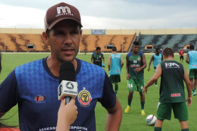 Técnico Chiquinho Lima aposta em um bom jogo, mesmo que considere o Águia uma equipe forte. - Crédito: Foto: Divulgação