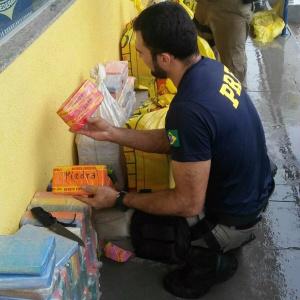 Carga apreendida pode ser a maior apreensão de cocaína do ano. - Crédito: Foto: Divulgação