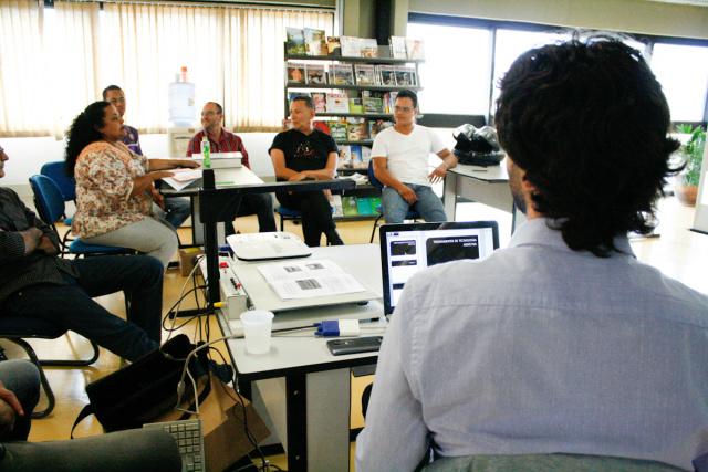 Servidores e participantes receberam oficina e ações. - Crédito: Foto: Daniel Reino