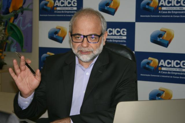 Normann Kallmus, economista da ACICG, em Campo Grande. - Crédito: Foto: Divulgação