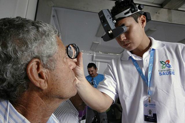 Atendimento oftalmológico é um dos mais solicitados na Caravana da Saúde, que esta semana atende em Aquidauana. - Crédito: Foto: Chico Ribeiro