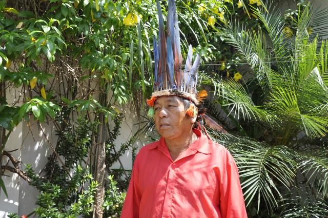 Cacique Renato afirma que invasões no entorno da aldeia não tem apoio de lideranças da Reserva. - Crédito: Foto: Hedio Fazan